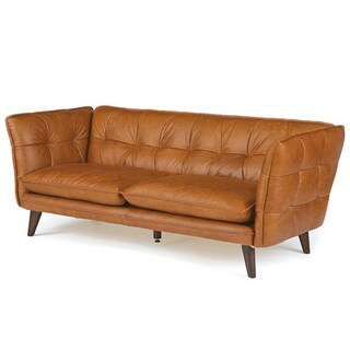 Angled Leather Sofa