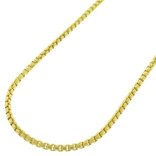 14k Yellow Gold 2mm Round Box Necklace