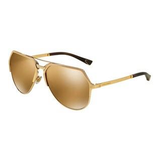 D&G Men's DG2151 K440F9 Black Metal Pilot Sunglasses