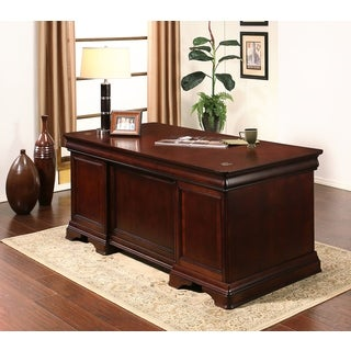 ABBYSON LIVING Arlington Executive Cherry Desk