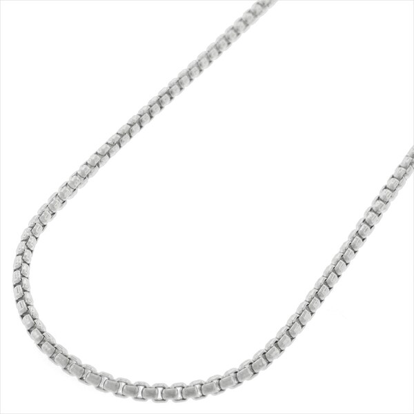 """14k White Gold 1.7mm Round Box Link Necklace Chain 16"""" - 24"""""""