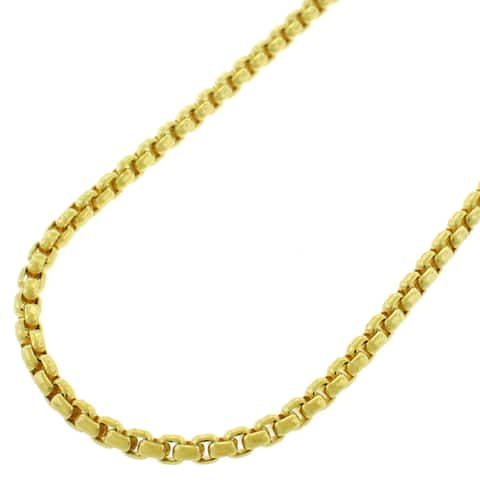 Capital Jewelry 14k Yellow Gold Box Link Necklace Chain