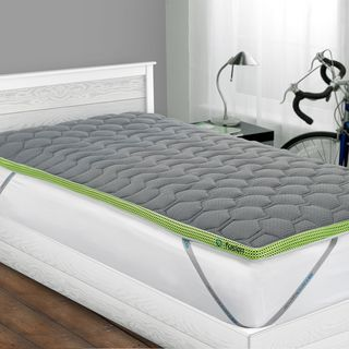 twin bed mattress topper Shop Bedgear Fusion Dri Tec 2 inch Twin/Twin XL size Latex  twin bed mattress topper