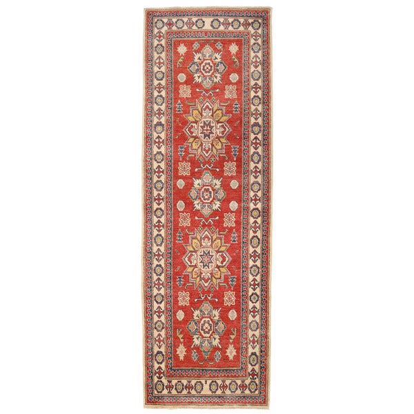 Herat Oriental Afghan Hand-knotted Kazak Wool Runner (2'11 x 8'10)