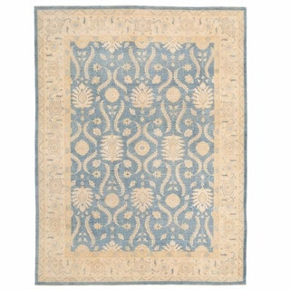 Herat Oriental Afghan Hand-knotted Oushak Wool Rug (8'11 x 12'1)