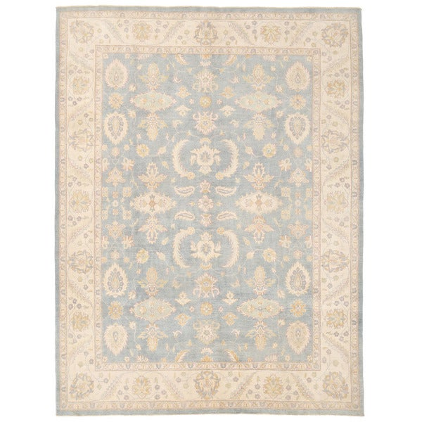Herat Oriental Afghan Hand-knotted Oushak Wool Rug (9' x 11'9)