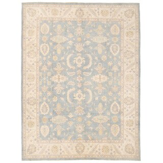 Handmade Herat Oriental Afghan Oushak Wool Rug - 9' x 11'9 (Afghanistan)