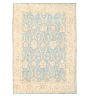 Herat Oriental Afghan Hand-knotted Oushak Wool Rug (8'11 x 12'2)
