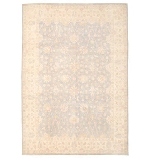 Herat Oriental Afghan Hand-knotted Oushak Wool Rug (9'11 x 13'11)