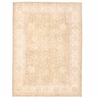 Herat Oriental Afghan Hand-knotted Oushak Wool Rug (9'11 x 13'7)