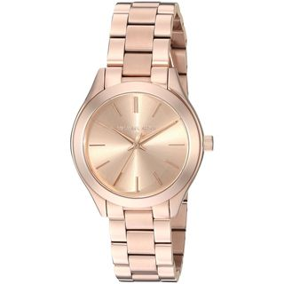 Michael Kors Women's MK3513 'Mini Slim Runway' Rose-Tone Stainless Steel Watch