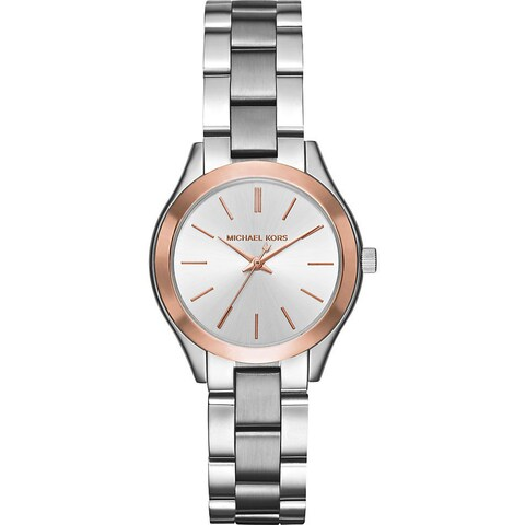 Michael Kors Women's 'Mini Slim Runway' Stainless Steel Watch