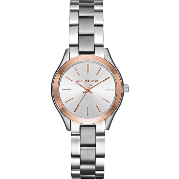 Michael Kors Women's MK3514 'Mini Slim Runway' Stainless Steel Watch