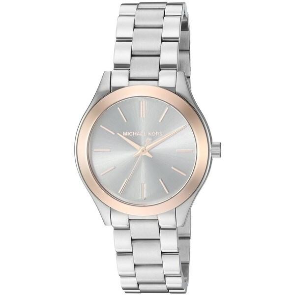 Michael Kors Women's MK3514 'Mini Slim Runway' Stainless Steel Watch