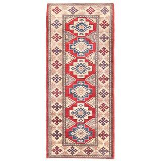 Herat Oriental Afghan Hand-knotted Kazak Wool Runner (2'3 x 5'4)