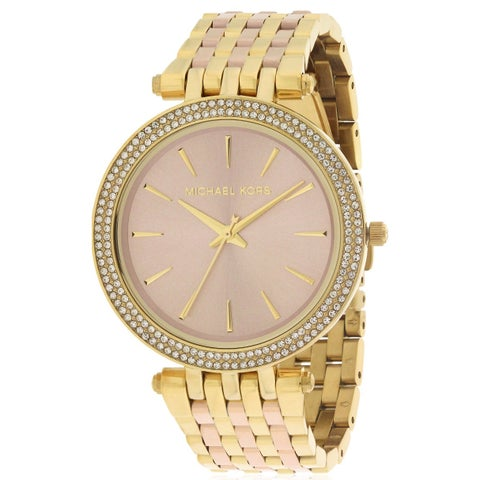 Michael Kors Women's 'Darci' Crystal Two-Tone Stainless Steel Watch