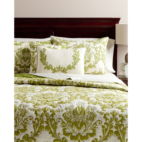 Dalilah Green Cotton Quilt
