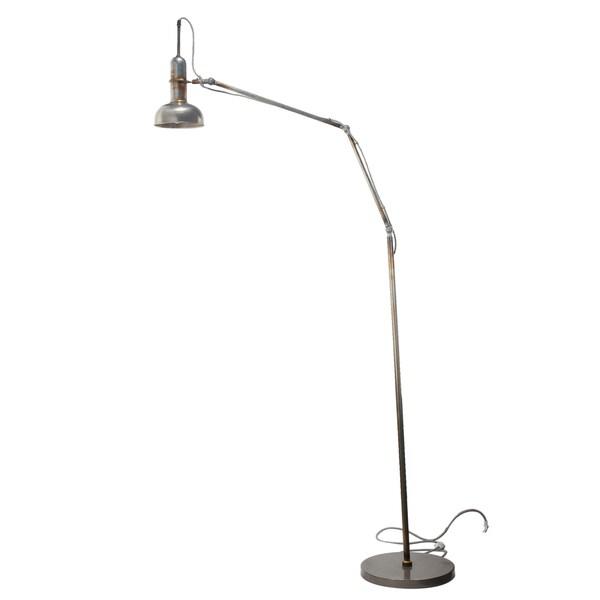 Silver Aluminum 11.5-inch x 11.5-inch x 76-inch Dockyard Floor Lamp