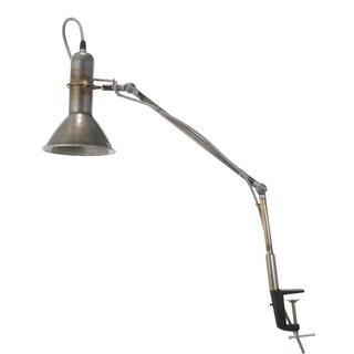 Silver Metal 10-inch x 6-inch x 33-inch Dockyard Clip Lamp