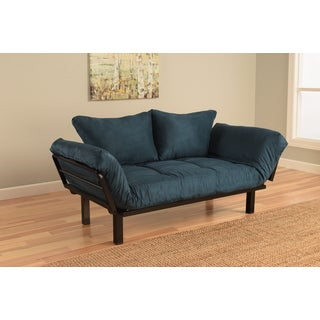 Somette Eli Spacely Navy Suede Daybed Lounger