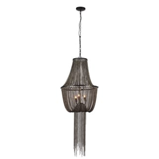 Metal 19.5-inch x 44-inch 3-light Chandelier