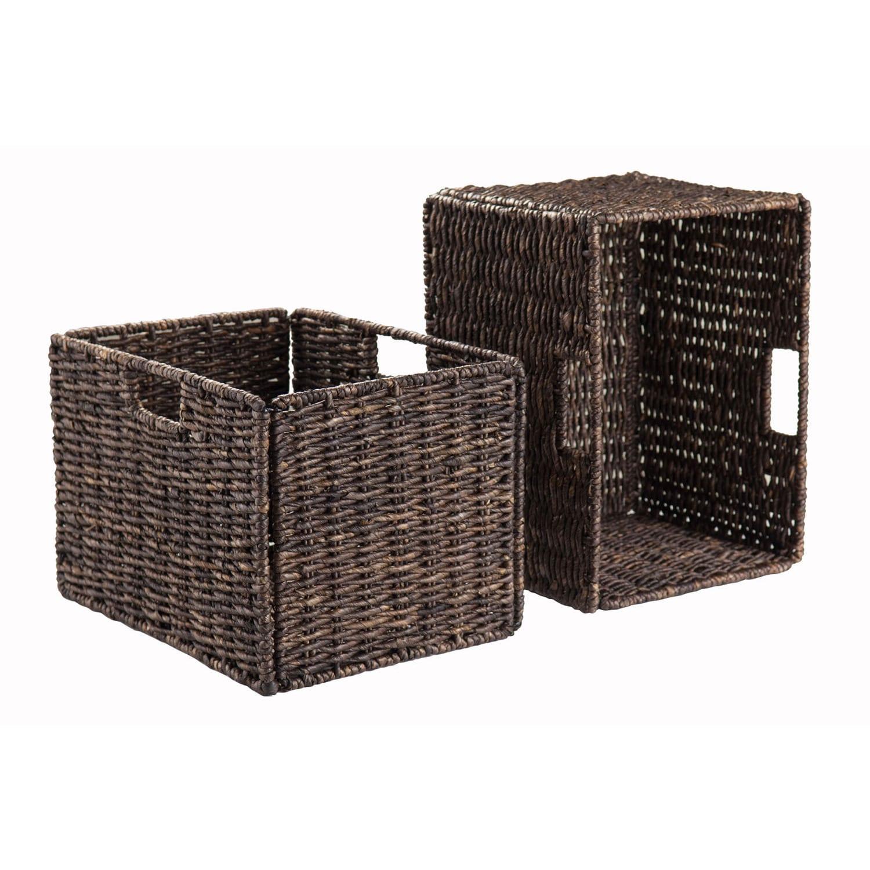 Winsome Granville Corn Husk Brown Organic Storage Foldabl...