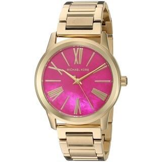 Michael Kors Women's 'Hartman' Gold-Tone Stainless Steel Watch