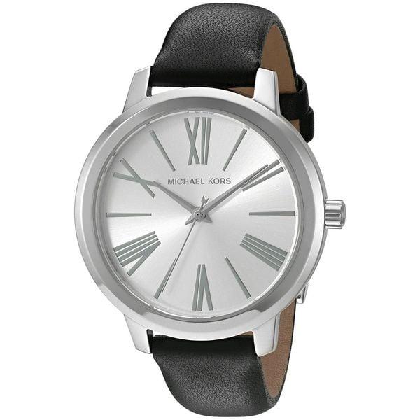 Michael Kors Women's MK2518 'Hartman' Black Leather Watch