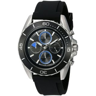 Michael Kors Men's MK8485 'JetMaster' Chronograph Black Silicone Watch