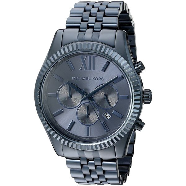 Michael Kors Men's 'Lexington' Chronograph Blue Stainless Steel Watch