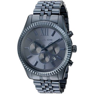 Michael Kors Men's MK8480 'Lexington' Chronograph Blue Stainless Steel Watch