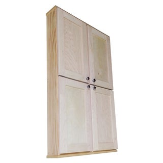 WG Wood Products Shawnee Series Natural Wood Double Door Wall-hanging Cabinet