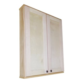 WG Wood Products Shawnee Series 36-inch High x 7.25-inch Deep Double-door On-the-wall Cabinet