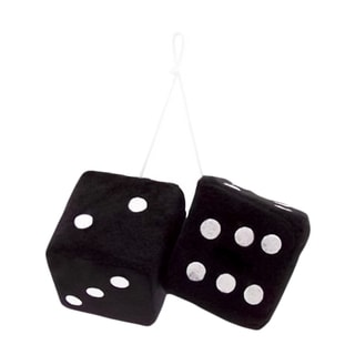 Zone Tech Black Fabric Hanging Dice Pair