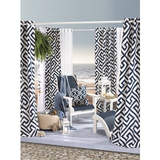 Greek Key Indoor and Outdoor Print Curtain Panel