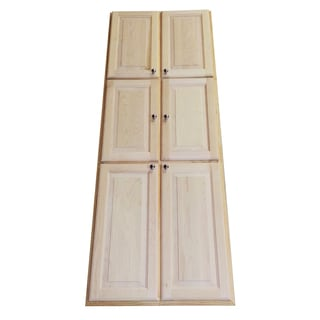 WG Wood Products Barcelona Natural Wood 78-inch x 3-inch Recessed Pantry Storage Cabinet