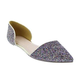 Liliana Women's D'orsay Glittering Flats
