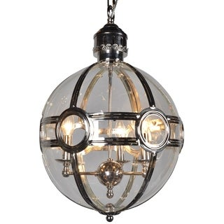 Verona Silver Iron 3-light Mini Chandelier with Glass