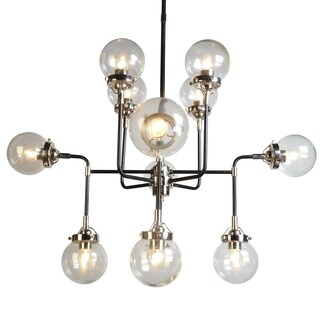 Y-Decor Dalinni Iron and Glass 12-light Chandelier