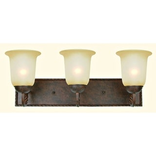 Gianni 3-light Patina Bronze Vanity Light Fixture with Soft Allure Alabaster Glass