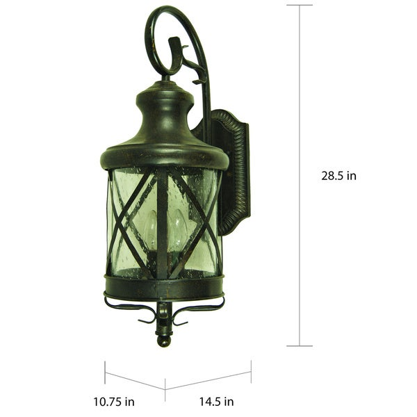 Oil Rubbed Bronze Outdoor Porch Light Wall Lantern Lamp Fixture Modern Exterior
