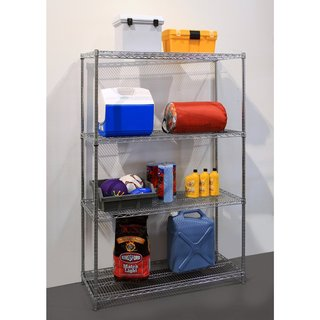 Seville Classics Silvertone Steel Wire Shelving System