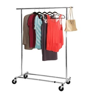 Seville Classics Chrome Commercial Grade Garment Rack|https://ak1.ostkcdn.com/images/products/11903871/P18797161.jpg?impolicy=medium