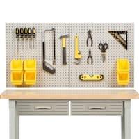 Seville Classics Grey/Yellow Steel/Plastic 8-square-foot UltraHD Pegboard Set