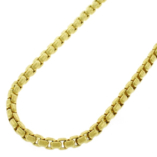 14k Yellow Gold 3.5 mm Round Box Necklace