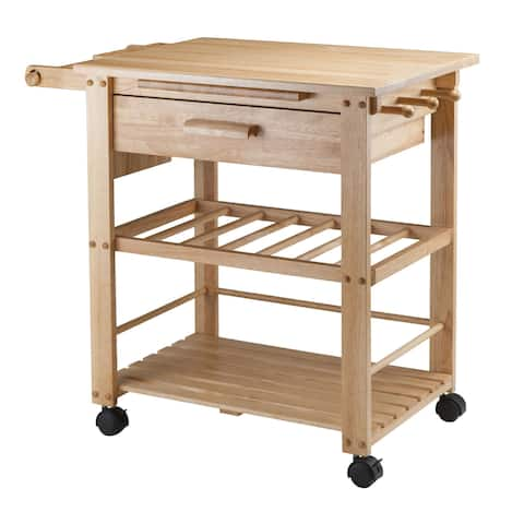 Winsome Finland Wooden Storage Kitchen Cart With Drawer and Caster