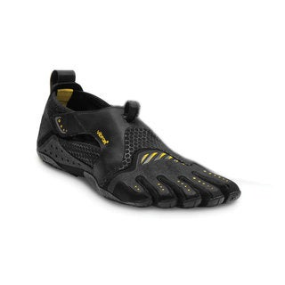Vibram Men's Fivefingers Signa 13M0201 Black/Yellow Polyester Mesh Rubber Sneakers