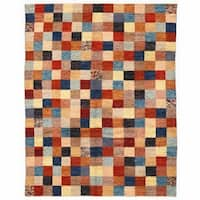 Herat Oriental Afghan Hand-knotted Shag Gabbeh Wool Rug (9'8 x 12'4)