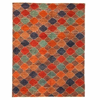Herat Oriental Afghan Hand-knotted Gabbeh Multicolor Wool Rug (10'4 x 13'7)