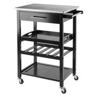 Winsome Anthony Stainless Steel Storage Kitchen Cart